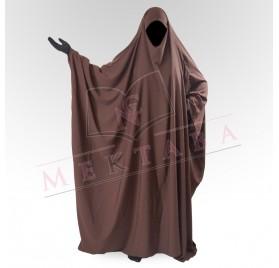 Jilbab saoudien marron