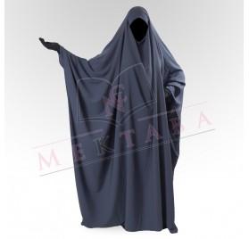 Jilbab saoudien gris foncé