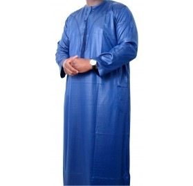 Qamis Omani tissu korean ( glacés ) Bleu