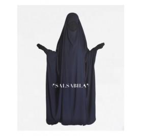 Jilbab/Jilbeb Saoudien royal coréen Bleu Nuit
