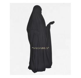 Jilbab Saoudien royal coréen Noir