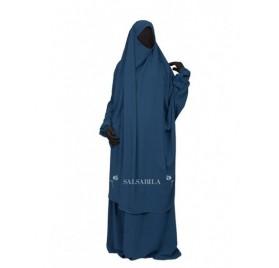Jilbab 2 Pièces Jupe royal coréen Bleu