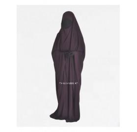 Jilbab/Jilbeb Saoudien royal coréen Prune
