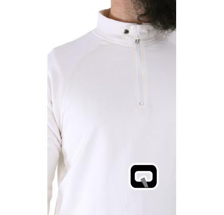 Qamis manche jogging blanc Qaba'il