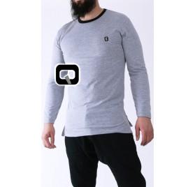 Tee-Shirt manche longue gris Qaba'il