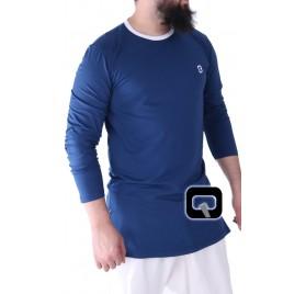 Tee-Shirt manche longue bleu nuit Qaba'il