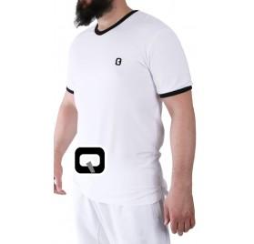 Tee-shirt manches courtes blanc Qaba'il