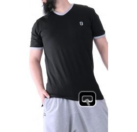 Tee-shirt manches courtes noir Qaba'il