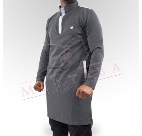Qamis court boss anthracite & gris clair