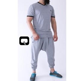 Tee-shirt manches courtes gris Qaba'il