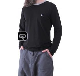 Tee-shirt manches longues noir Qaba'il