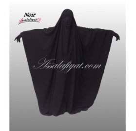 Jilbab/Jilbeb Saoudien Noir Assalafiyat