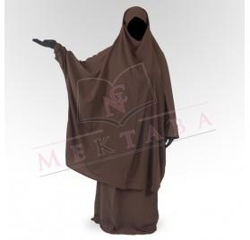 Jilbab deux pièces marron