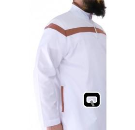 Qamis long blanc